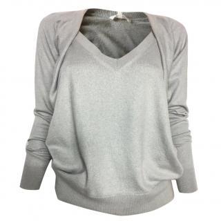 Vanessa Bruno light grey V-neck sweater