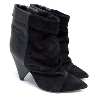 Isabel Marant Black Leather & Suede Andrew Ankle Boots