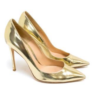 Gianvito Rossi Gold Metallic Stiletto Pumps