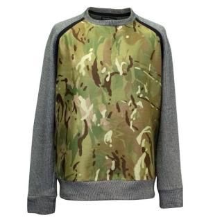 Christopher Raeburn Camouflage Print Remade Raglan Sweater