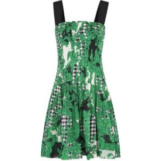 DVF Karlyn green and black dress