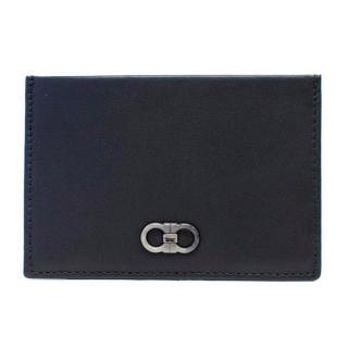 Salvatore Ferragamo Black Leather Card Holder