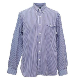 Polo by Ralph Lauren Blue and White Striped Oxford Shirt