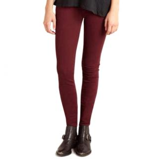 Current Elliot burgundy jeans