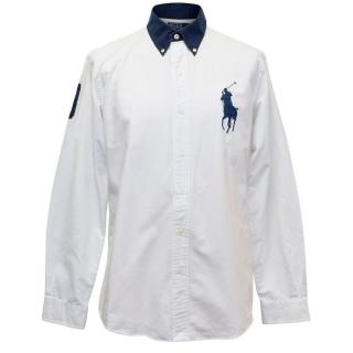 Polo Ralph Lauren White and Navy Shirt