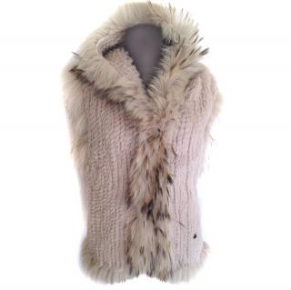 Phard hooded fur vest