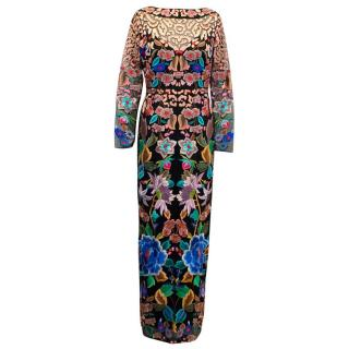 Temperley Multicoloured Floral Embroidered Dress