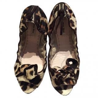 Miu Miu open toe shoes