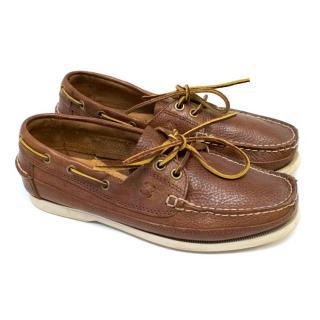 Polo Ralph Lauren Tan Bienne Boat Shoes