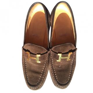 Hermes calf skin loafers