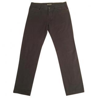 BOGGI 100% cotton brown slim fit jeans