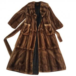 Fendi wild Mink Reversible Fur coat