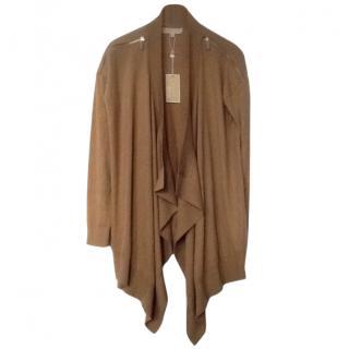 Michael Kors Zip Shoulder Waterfall Cardigan