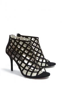 Michael Kors black suede cage sandals