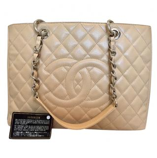 Chanel Grand Shopping Tote with cards