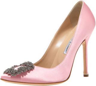 Manolo Blank Baby Pink Hangisi Heels