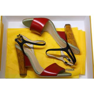 Fendi Red Sandals It 39
