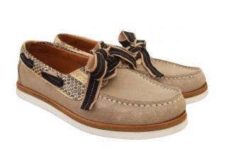 Lanvin suede & snakeskin loafers