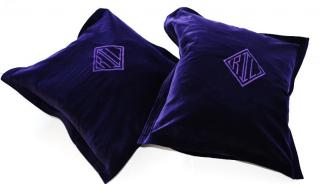Ralph Lauren Home purple velvet cushion covers