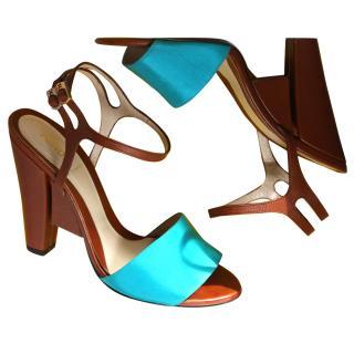 Fendi Turquoise Sandals It 38 rrp gbp580
