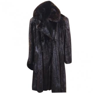 Saks 5th Avenue black/brown Mink fur full length