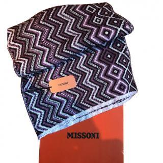 Missoni purple scarf