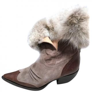 ERMANO SCERVINO - real fur leather boots