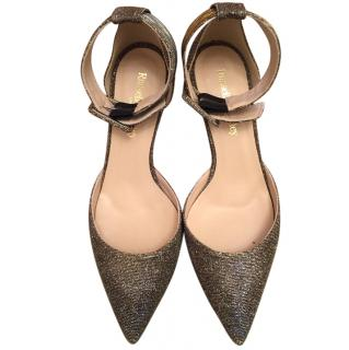 Russell and Bromley shimmery fabric shoes