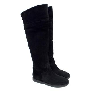 Salvatore Ferragamo Black 'My Ease' Knee High Boots