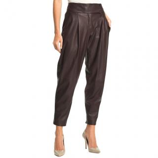 Theory 'Kina L' Tapered Leather Pants