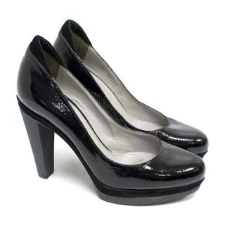 Sergio Rossi Black Patent Pumps
