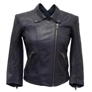 Theyskens' Theory Indigo Blue Leather Jacket