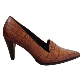 Georges Rech Heeled Brown Loafer