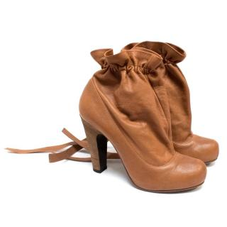 Marc by Marc Jacobs Tan Leather Ankle Boots