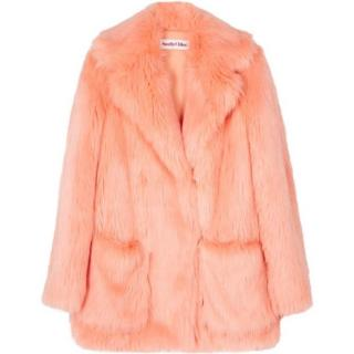 See By Chloe Peach Faux Fur Coat