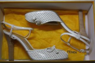 Fendi White Sandals It 39.5
