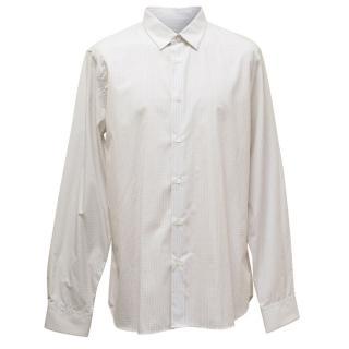 Jil Sander White and Grey Check Shirt
