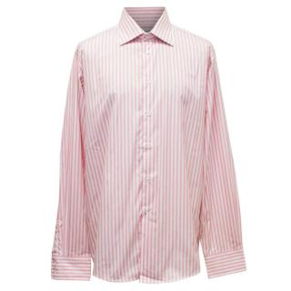 Richard James Pink And White Striped Shirt