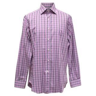 Etro Purple And White Checkered Shirt