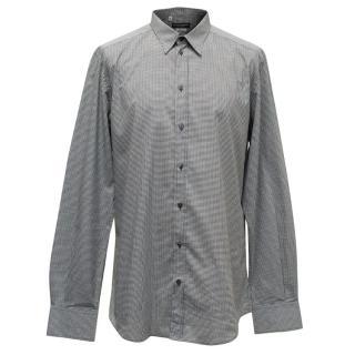 Dolce & Gabbana Black and White Gingham Shirt