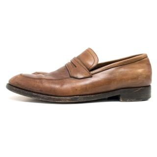 Ermenegildo Zegna Tan Loafers