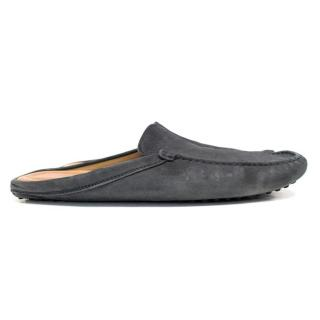 Tod's Navy Gommino Driving Slippers