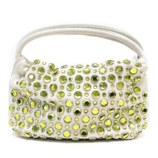 Sonia Rykeil White Leather Bag