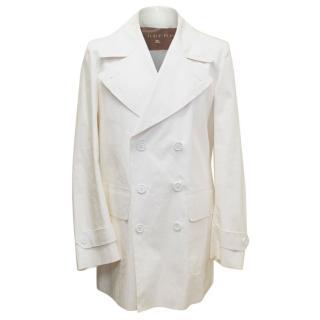 Burberry Cream Lightweight Jacket
