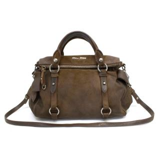 Miu Miu Brown Suede Bow Bag