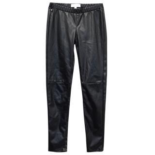 Michael Michael Kors Black Wetlook Leggings