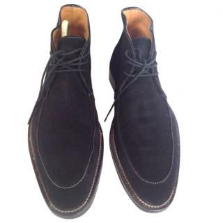 Charles Jourdan Black Suede Lace Ups