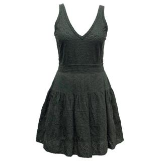Maje Bottle Green Lace Dress