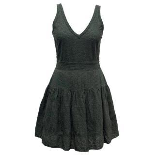 Maje Bottle Green Lace Dress