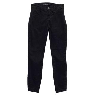 J Brand Black Jeggings with Gold Ankle Zip